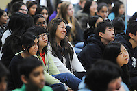 The Harker School - US - Upper School - US Wildlife Assembly held in the Saratoga Gym  - Photo by Kyle Cavallaro