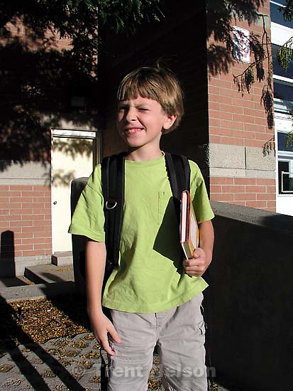 Noah Nelson first day of 2nd grade<br />