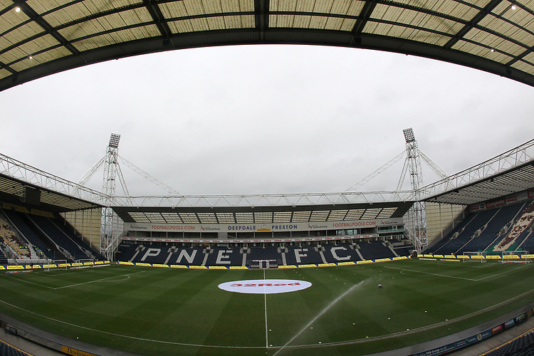 A general view of Preston North End's Deepdale Stadium<br /> <br /> Photographer Mick Walker/CameraSport<br /> <br /> The EFL Sky Bet Championship - Preston North End v Swansea City - Saturday 12th January 2019 - Deepdale Stadium - Preston<br /> <br /> World Copyright &copy; 2019 CameraSport. All rights reserved. 43 Linden Ave. Countesthorpe. Leicester. England. LE8 5PG - Tel: +44 (0) 116 277 4147 - admin@camerasport.com - www.camerasport.com