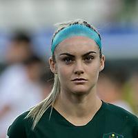 GRENOBLE, FRANCE - JUNE 18: Ellie Carpenter #21 of the Australian National Team during a game between Jamaica and Australia at Stade des Alpes on June 18, 2019 in Grenoble, France.