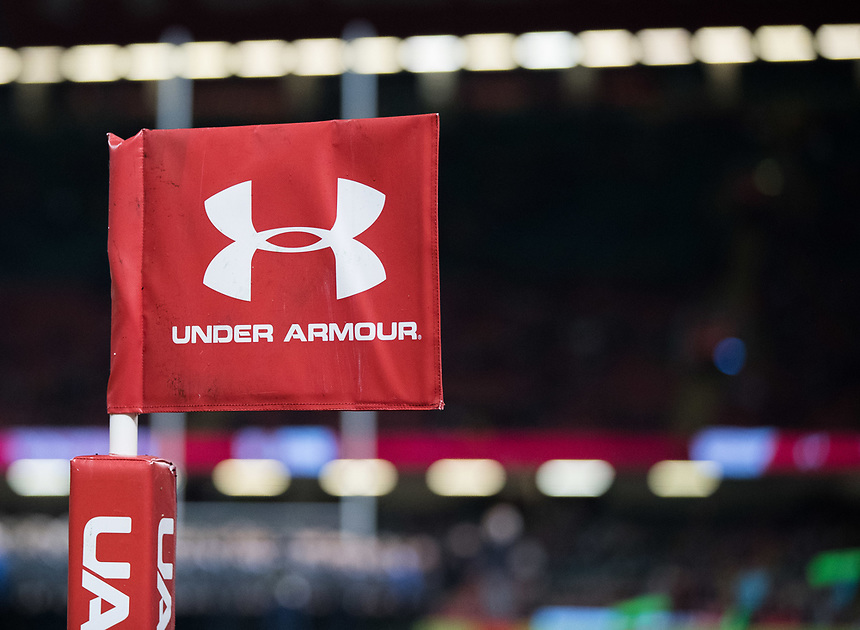 A general view of Principality Stadium, home of Wales banner, flag<br /> <br /> Photographer Simon King/CameraSport<br /> <br /> International Rugby Union - 2017 Under Armour Series Autumn Internationals - Wales v Australia - Saturday 11th November 2017 - Principality Stadium - Cardiff<br /> <br /> World Copyright &copy; 2017 CameraSport. All rights reserved. 43 Linden Ave. Countesthorpe. Leicester. England. LE8 5PG - Tel: +44 (0) 116 277 4147 - admin@camerasport.com - www.camerasport.com