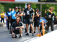 May 6, 2017; Commerce, GA, USA; Crew members for NHRA pro stock driver Shane Tucker during qualifying for the Southern Nationals at Atlanta Dragway. Mandatory Credit: Mark J. Rebilas-USA TODAY Sports