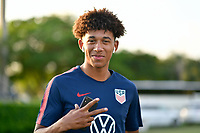 Miami, FL - Tuesday, October 15, 2019:  Chris Richards #14 during a friendly match between the USMNT U-23 and El Salvador at FIU Soccer Stadium.
