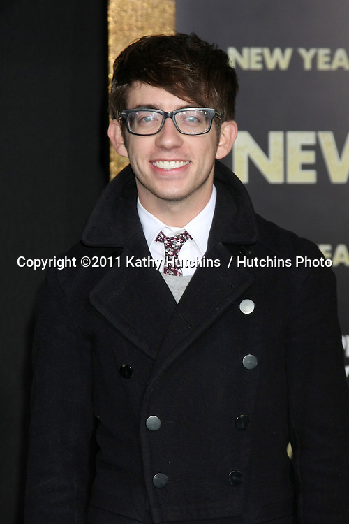 "LOS ANGELES - DEC 5:  Kevin McHale arrives at the ""New Year's Eve"" World Premiere at Graumans Chinese Theater on December 5, 2011 in Los Angeles, CA"
