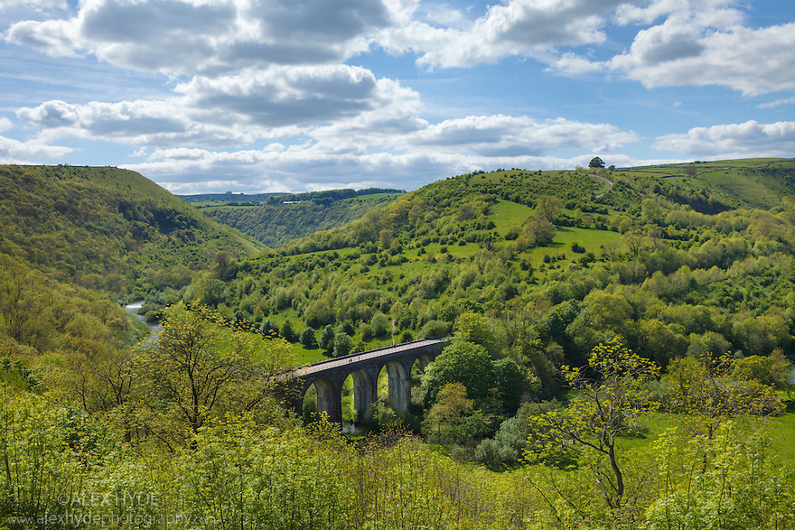 Monsal Head Viaduct, Monsal Dale, Peak DIstrict National Park, Derbyshire, UK. June.