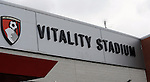 General signage around  the Vitality Stadium, home to Bournemouth FC<br /> - Barclays Premier League - Bournemouth vs Manchester United - Vitality Stadium - Bournemouth - England - 12th December 2015 - Pic Robin Parker/Sportimage