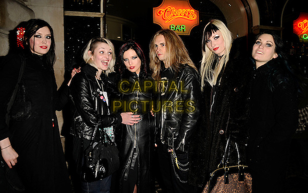 "GEORGINA BAILLIE & The Satanic Sluts.The ""F*uck Rehab"" club night, Chinawhite bar & nightclub, Air Street, London, England..November 12th, 2008.fuck half length black leather jacket bailey .CAP/CAN.©Can Nguyen/Capital Pictures."