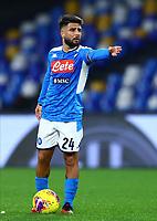 29th February 2020; Stadio San Paolo, Naples, Campania, Italy; Serie A Football, Napoli versus Torino; Lorenzo Insigne of Napoli askes the referee for 10 yards on a  free kick