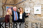 "Painting Exhibition : Kenmare based artist Miche Vanmechelen pictured with Eileen & Tony Guerin at the launch of her exhibition of paintings ""Ardiontas"" at St' John's Arts Centre , Listowel on  Saturaday night last."