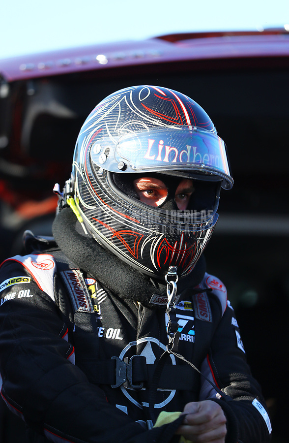 Mar 17, 2017; Gainesville , FL, USA; NHRA funny car driver Jonnie Lindberg during qualifying for the Gatornationals at Gainesville Raceway. Mandatory Credit: Mark J. Rebilas-USA TODAY Sports
