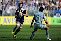 Francois Louw of Bath Rugby in action during the Aviva Premiership match between Bath Rugby and Leicester Tigers at The Recreation Ground on Saturday 20th April 2013 (Photo by Rob Munro)