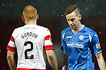 St Johnstone v Hamilton Accies....016.01.16  SPFL  McDiarmid Park, Perth<br /> Steven MacLean with a bust lip<br /> Picture by Graeme Hart.<br /> Copyright Perthshire Picture Agency<br /> Tel: 01738 623350  Mobile: 07990 594431