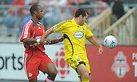 Julius James (3) and Alejandro Moreno (10) in action at  BMO Field on Saturday September 13, 2008. .The game ended in a 1-1 draw.