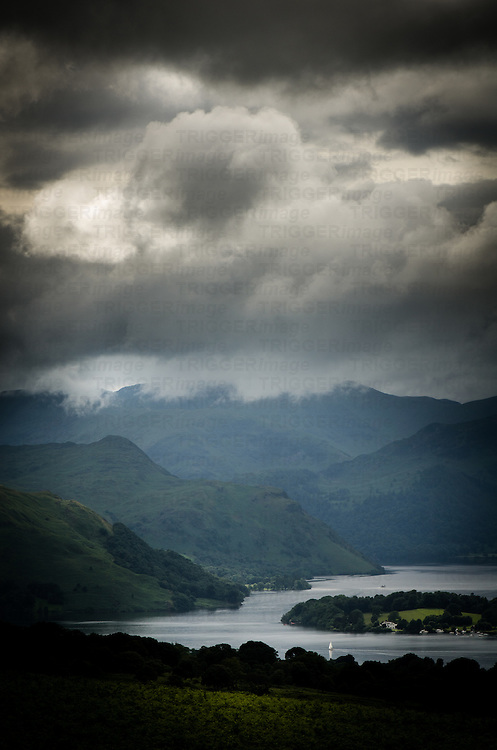 Dark clouds over Ullswater