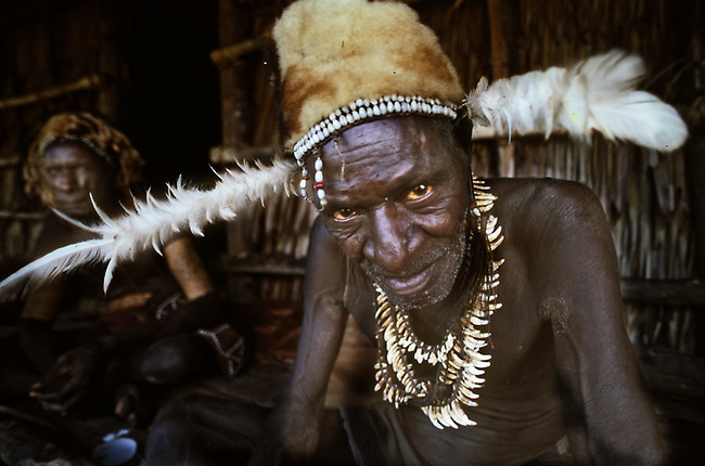 Asmat tribal chief, irian jaya, indonesia, same area where Michael Rockefeller killed