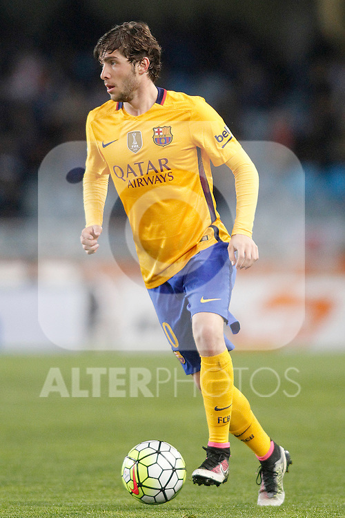 FC Barcelona's Sergi Roberto during La Liga match. April 9,2016. (ALTERPHOTOS/Acero)