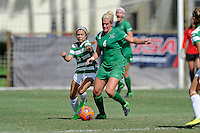 8 November 2015:  Marshall Midfielder/Forward Kelly Culicerto (6) battles North Texas Forward Taylor Torres (8) for the ball in the first half as the University of North Texas Mean Green defeated the Marshall University Thundering Herd, 1-0, in the Conference USA championship game at University Park Stadium in Miami, Florida.