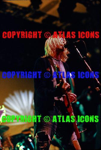 Kurt Cobain :Nirvana:  New York Coliseum: New York City:.November 14, 1993:.Photo Credit: Eddie Malluk/AtlasIcons.com