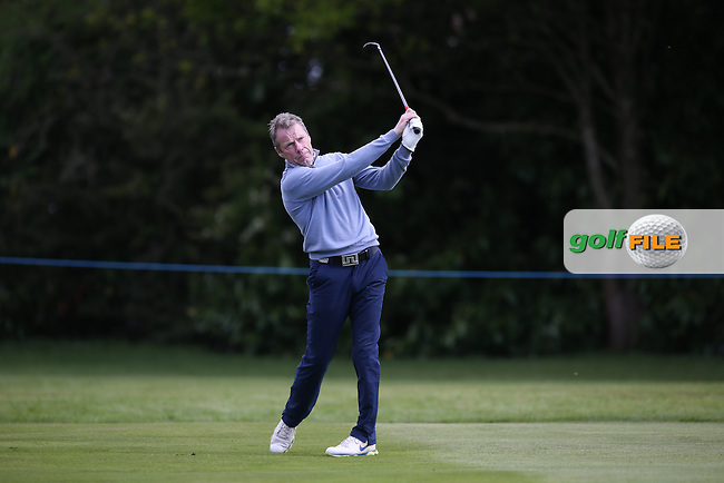 Irish jockey legend Mick Fitzgerald  during the Pro-Am ahead of the 2015 BMW PGA Championship over the West Course at Wentworth, Virginia Water, London. Picture David lloyd, www.golffile.ie: 20/05/2015