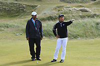 Ryunosuke Sakane (JPN) on the 4th green during Round 1 of the The Amateur Championship 2019 at The Island Golf Club, Co. Dublin on Monday 17th June 2019.<br /> Picture:  Thos Caffrey / Golffile<br /> <br /> All photo usage must carry mandatory copyright credit (© Golffile | Thos Caffrey)