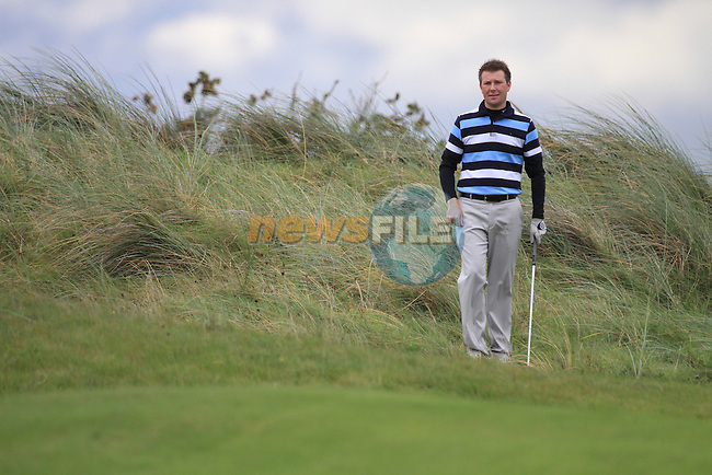 Day one of the Irish PGA championship at Seapoint Golf Club,.Michael McGivern Belvoir Park on the 18th..Picture Fran Caffrey/www.golffile.ie.