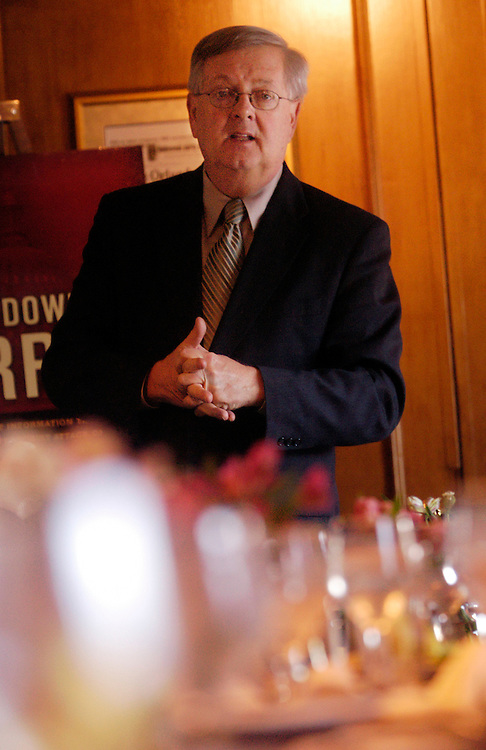 "Rep. Curt Weldon, R-Pa., speaks to the American Legion at the National Press Club about ""Able Danger,"" a highly classified United States Special Operations Command military intelligence program."