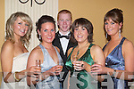 AUCTION: Having a great time at the Niall Mellon Township Trust Gall Ball in Ballygarry House Hotel & Spa, Tralee on Friday night, were -r: Liz O'Donnell, Emma Murphy, Shane Durran,Caitriona Behan and Rachel Durran. ..v....   Copyright Kerry's Eye 2008