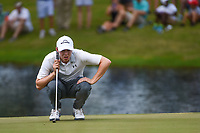 Matt Fitzpatrick (ENG) lines up his putt on 11 during round 4 of the WGC FedEx St. Jude Invitational, TPC Southwind, Memphis, Tennessee, USA. 7/28/2019.<br /> Picture Ken Murray / Golffile.ie<br /> <br /> All photo usage must carry mandatory copyright credit (© Golffile | Ken Murray)