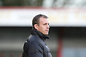Stevenage manager Gary Smith. Stevenage v Crawley Town - npower League 1 -  Lamex Stadium, Stevenage - 15th December, 2012. © Kevin Coleman 2012..