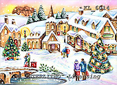 Interlitho, CHRISTMAS LANDSCAPES, WEIHNACHTEN WINTERLANDSCHAFTEN, NAVIDAD PAISAJES DE INVIERNO, paintings+++++,winter scene,autumn sky,KL6014,#xl# market place
