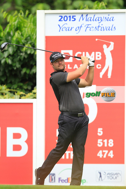 Ryan Moore (USA) on the 5th tee during Round 4 of the CIMB Classic in the Kuala Lumpur Golf &amp; Country Club on Sunday 2nd November 2014.<br /> Picture:  Thos Caffrey / www.golffile.ie
