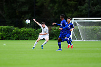 Ryan Bevan of Swansea City in action during the Premier League u18 match between Swansea City AFC and Chelsea FC at Landore Training Ground, Wales, UK. Tuesday 11th September 2018