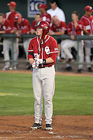 Cam Seitzer #33 of the Oklahoma Sooners plays against the Arizona State Sun Devils in the first of a two-game series on March 15, 2011 at Packard Stadium, Arizona State University, in Tempe, Arizona..Photo by:  Bill Mitchell/Four Seam Images.