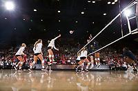 STANFORD, CA - September 7, 2018: Stanford beats Penn State 3-0 at Maples Pavilion.