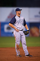 Brooklyn Cyclones third baseman David Thompson (29) during the first game of a doubleheader against the Connecticut Tigers on September 2, 2015 at Senator Thomas J. Dodd Memorial Stadium in Norwich, Connecticut.  Brooklyn defeated Connecticut 7-1.  (Mike Janes/Four Seam Images)