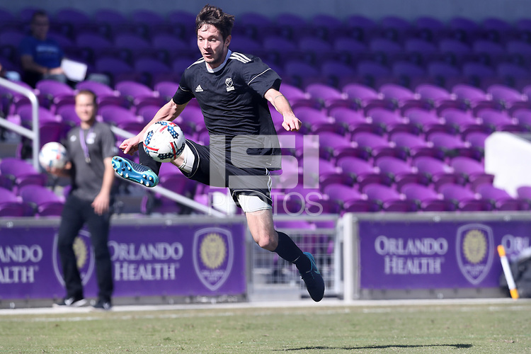 Orlando, Florida - Wednesday January 17, 2018: Luis Argudo. Match Day 3 of the 2018 adidas MLS Player Combine was held Orlando City Stadium.