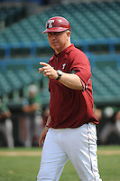 Temple University Owls manager Ryan Wheeler (1) during a game against the University of South Florida Bulls at Campbell's Field on April 13, 2014 in Camden, New Jersey. USF defeated Temple 6-3.  (Tomasso DeRosa/ Four Seam Images)