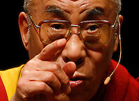 His Holiness the Dalai Lama of Tibet gives his final remarks after making a presentation titled Global Citizenship Through Universal Responsibility in Ottawa on Sunday Oct 28, 2007. .EPA..