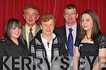 GAA SOCIAL: Niamh McCarthy, Ned Buckley, Eileen Buckley, Colin and Jean Counihan enjoying themselves at the Kilcummin GAA social in the Dromhall Hotel, Killarney on Saturday night.   Copyright Kerry's Eye 2008