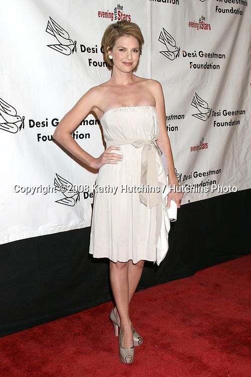 Megan Ward  arriving at the Desi Geestman Foundataion Annual Evening with the Stars at the Universal Sheraton Hotel in Los Angeles, CA.October 11, 2008.©2008 Kathy Hutchins / Hutchins Photo...                .