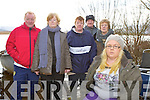 Neilie O'Connor's partner Mellisa Clifford waits for the news on the search for his recovery on the shore of Loch Gaineamhaim, Cromane on Monday with his father Freddy forth from left, his uncle Mike (Fox) and his aunts Helen Walters, Ann Ryle and Alice Tiernan
