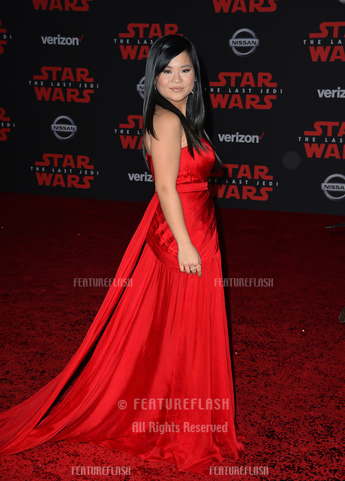 Kelly Marie Tran at the world premiere for &quot;Star Wars: The Last Jedi&quot; at the Shrine Auditorium. Los Angeles, USA 09 December  2017<br /> Picture: Paul Smith/Featureflash/SilverHub 0208 004 5359 sales@silverhubmedia.com