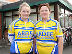 Lauren and Yvonne Reilly who took part in the Ardee Cycle club 50Km cycle. Photo: Colin Bell/pressphotos.ie