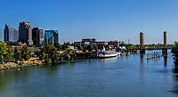 A view of downtown Sacramento riverfront, California, US.