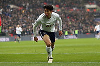 Son Heung-Min of Tottenham Hotspur celebrates scoring the second goal during Tottenham Hotspur vs Huddersfield Town, Premier League Football at Wembley Stadium on 3rd March 2018
