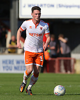 Blackpool's Jordan Thompson in action <br /> <br /> Photographer David Shipman/CameraSport<br /> <br /> The EFL Sky Bet League One - Scunthorpe United v Blackpool - Friday 19th April 2019 - Glanford Park - Scunthorpe<br /> <br /> World Copyright © 2019 CameraSport. All rights reserved. 43 Linden Ave. Countesthorpe. Leicester. England. LE8 5PG - Tel: +44 (0) 116 277 4147 - admin@camerasport.com - www.camerasport.com