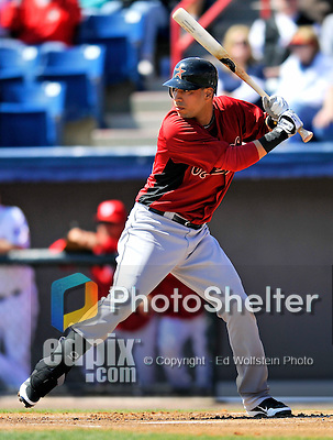 4 March 2012: Houston Astros' infielder Marwin Gonzalez in action against the Washington Nationals at Space Coast Stadium in Viera, Florida. The Astros defeated the Nationals 10-2 in Grapefruit League action. Mandatory Credit: Ed Wolfstein Photo
