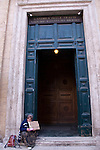 beggar in front of san andrea delle fratte, the madonna del miracolo rome italy