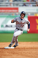 Detroit Tigers first baseman Will Allen (17) running the bases during a Spring Training game against the New York Yankees on March 2, 2016 at George M. Steinbrenner Field in Tampa, Florida.  New York defeated Detroit 10-9.  (Mike Janes/Four Seam Images)