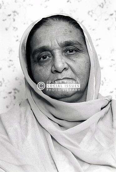 Portrait of an elderly woman, Nottingham, UK 1990